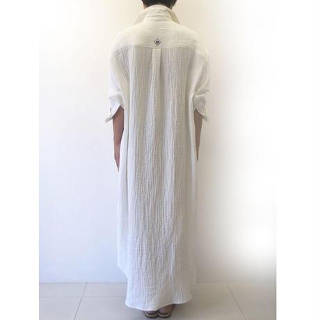 BLUEBIRD BOULEVARD Soft Gauze Shirt Dress /ブルーバード ブルバード  ソフトシュリンクガーゼシャツドレス