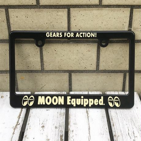 MOON Equipped GEARS FOR ACTION! ライセンス プレート フレーム for モーターサイクル ブラック【for 126cc UP】