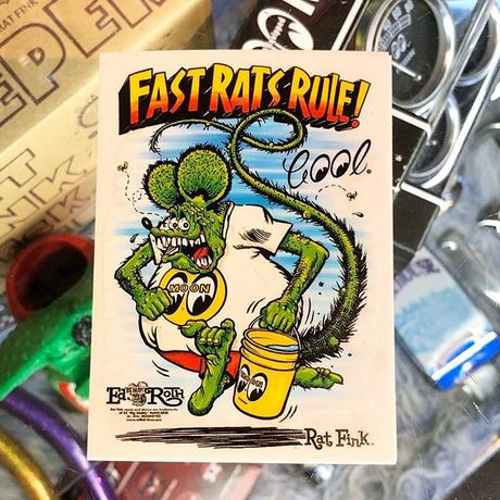 Rat Fink x MOON Fast Rat Rule ステッカー DM233