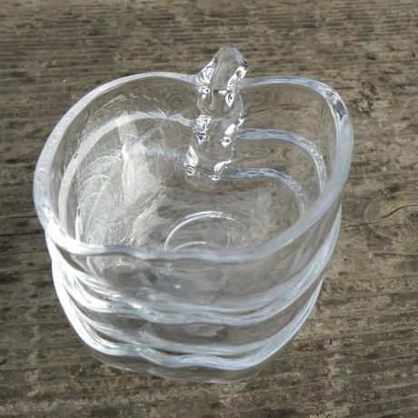 ヴィンテージ KIG INDONESIA Clear  Glass Apple Shaped Bowl 小3個セット