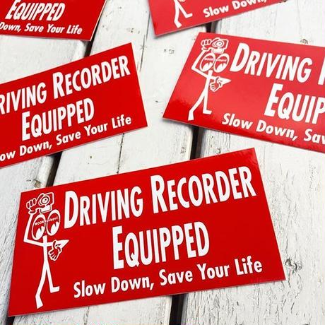 Driving Recorder Equipped ステッカー MQD035RD