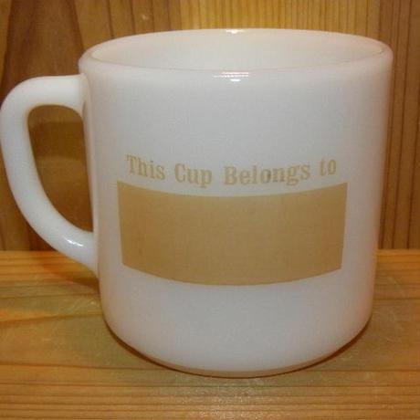 ミルクガラス FEDERAL This Cup Blongs To