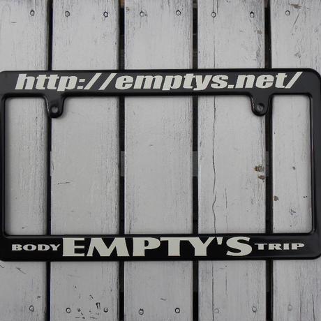 EMPTY'S オリジナル ライセンスフレーム ブラック × オフホワイト