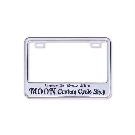 ライセンス プレート フレーム フォー スモール モーターサイクル MOON Custom Cycle Shop クローム MG130GCCHMCS