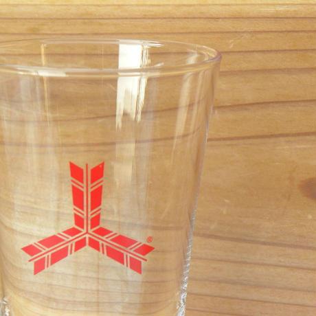 三ツ矢サイダー ノベルティー 足付きグラス 大小2個セット