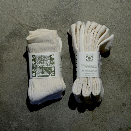 "ORGANIC THREADS (オーガニックスレッズ) ""3PACK ORGANIC SOCKS"" White"