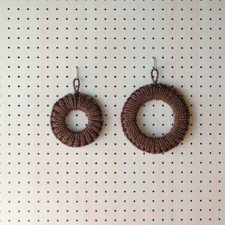 紀州棕櫚の手編み鍋敷き 14cm / 高田耕造商店