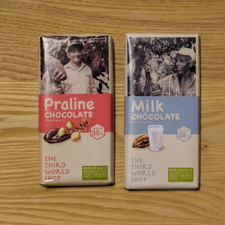ミルクチョコレート・プラリネチョコレート   /  第3世界ショップ