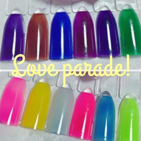 Love Parade, 温度で色が変わる!カラージェル6種