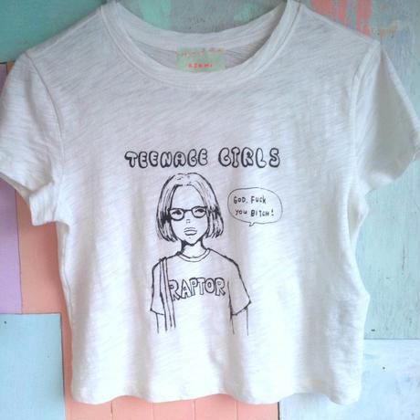 Teenage girls クロップTシャツ