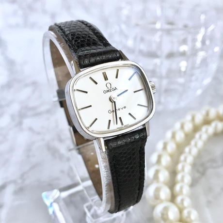 OMEGA オメガ ジュネーブ ベルト二種付き レザー ブレス 手巻き レディース 腕時計