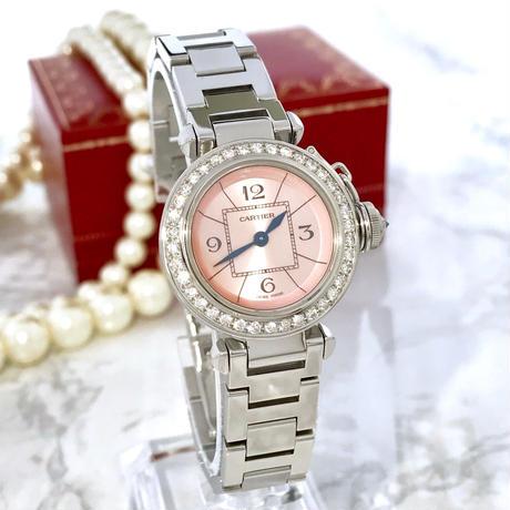Cartier カルティエ ミス パシャ 天然ダイヤモンド  39P OH済み レディース 腕時計