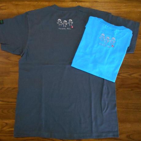 りきさんTシャツ「はたらくぼく」(背中のえり元に刺繍)※Tシャツの色:濃い水色