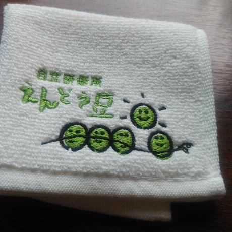 刺繍ハンカチタオル(無撚糸タオル)