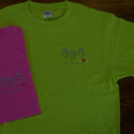 りきさんTシャツ「はたらくぼく」(胸にワンポイント刺繍)※Tシャツの色:黄緑