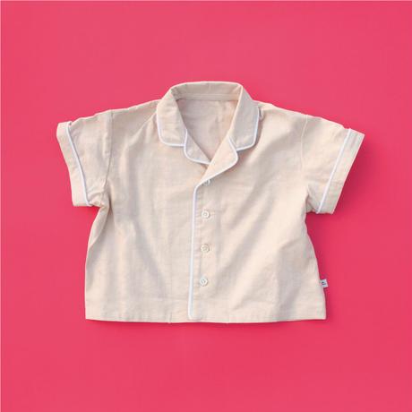 Jyväskylä  Raspberry  KIDS  Open Collar Shirt  100【STAYING with WILD COLORS】