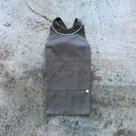 〈Dhaka + CHARCOAL GRAY〉KIDS WORK APRON