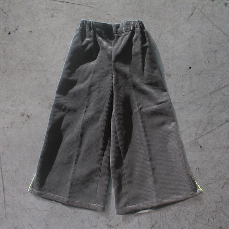 〈San Francisco + CHARCOAL GRAY〉KIDS  Corduroy Wide Pants