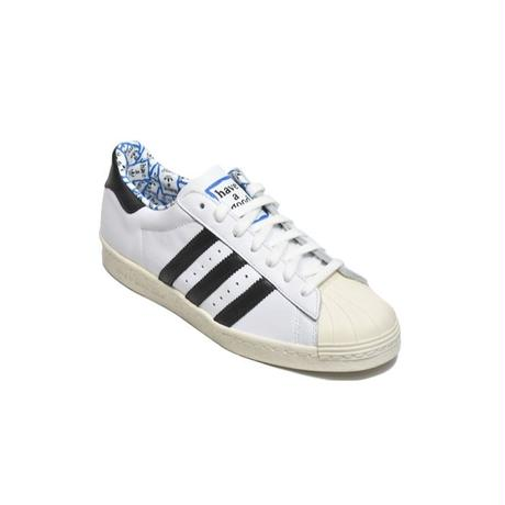ADIDAS ORIGINALS SUPER STAR 80S HAGT WHITE BLACK BLUE アディダス オリジナルス スーパースター HAVE A GOOD TIME