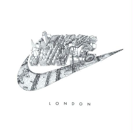 NIKE S/S  TEE  CITY OF LONDON WHITE ナイキ ロンドン Tシャツ ホワイト
