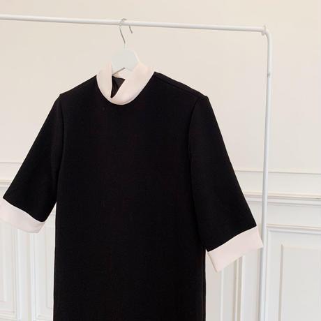 ribbon black dress