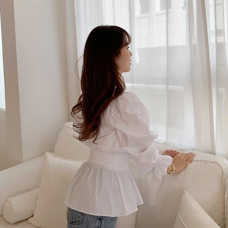 peplum gather blouse