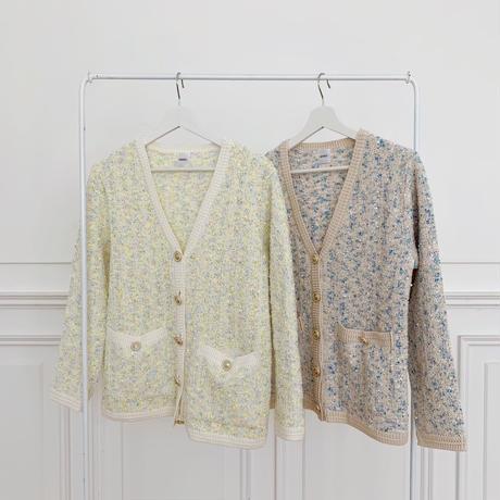 tweed cardigan