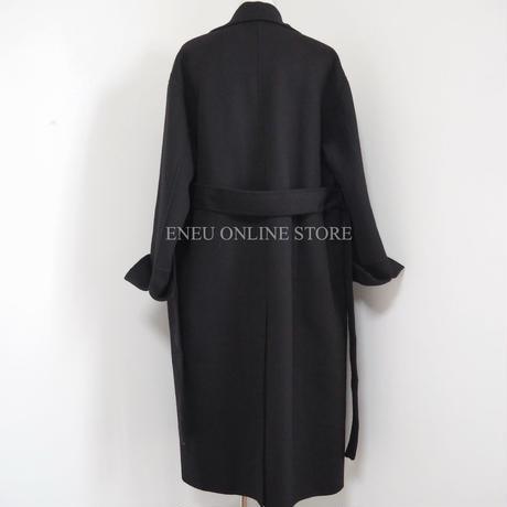 Handmade double wool coat / black