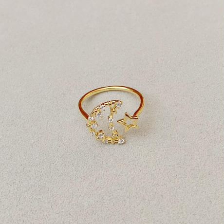moon×star ring