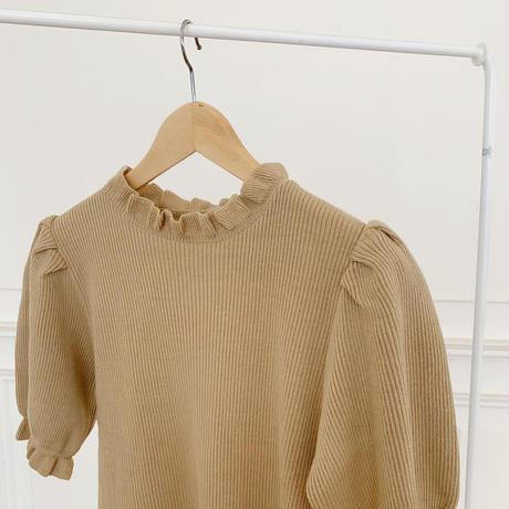 frill puff knit