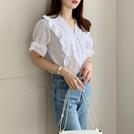 lace cotton blouse