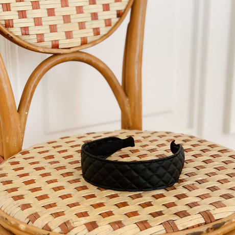 quilting leather hairband