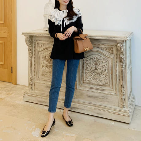 side gather blouse