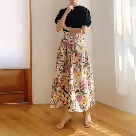flower tuck skirt