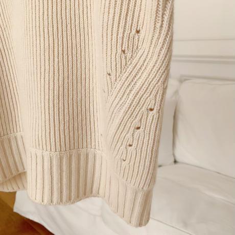 waffle turtleneck knit