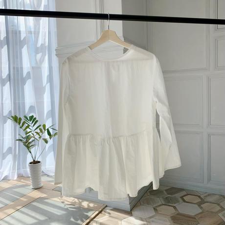 2way flare ribbon blouse