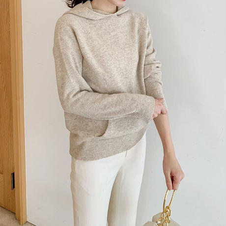 hood pocket knit
