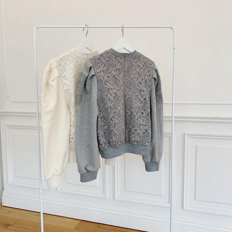 lace sweat pullover