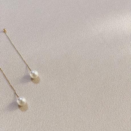 pearl chain gold pierce