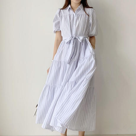 stripe tiered shirt op