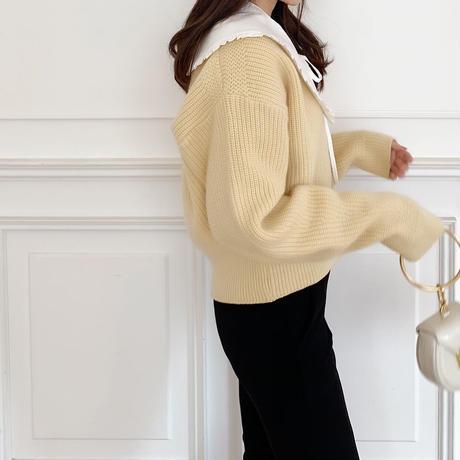 macaron short cardigan