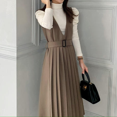 pleats jumper skirt