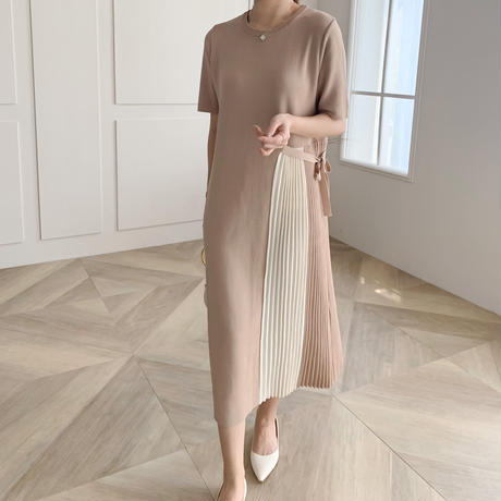 side pleats knit op