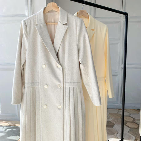 pleats long jacket