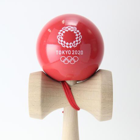 けん玉(KENDAMA)  赤  東京2020オリンピックエンブレム
