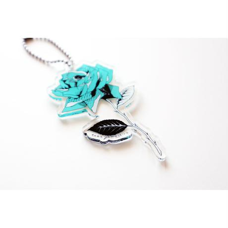 rose acrylic keychain