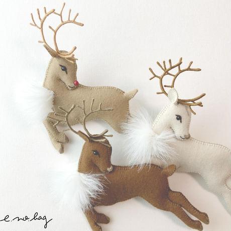 -----受注制作------ Reindeer  ( トナカイ ノ ブローチ× Pop-Up Appliqué )