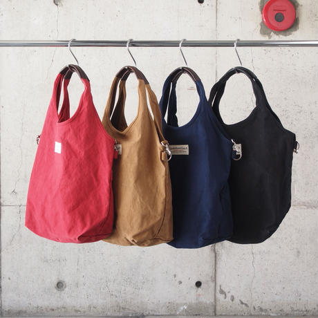 Butler Verner Sails〈バトラーバーナーセイルズ〉 2WAY TOTE BAG RED/CAMEL/NAVY/BLACK