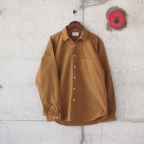 Manual Alphabet〈マニュアルアルファベット〉 LOOSE FIT REGULAR COLLAR SHIRT GINGER