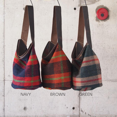 Esperanto〈エスペラント〉 BLANKET ONE SHOULDER BAG NAVY/BEIGE/BROWN/GREEN
